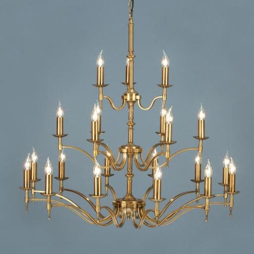 Stanford Brass 21 Light Chandelier - New Classics Interiors 1900 Lighting