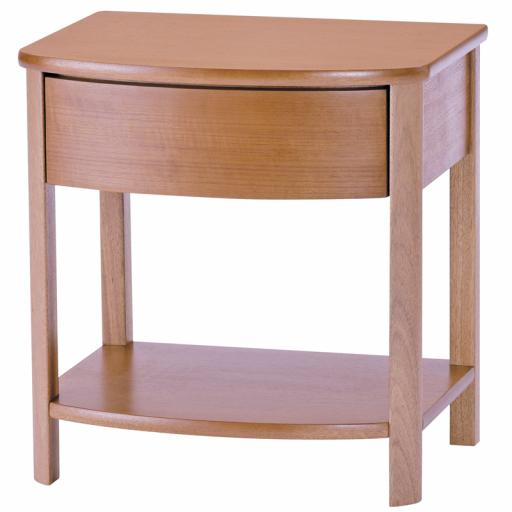 Nathan Furniture 5904 Shaped Lamp Table - Nathan Shades Furniture