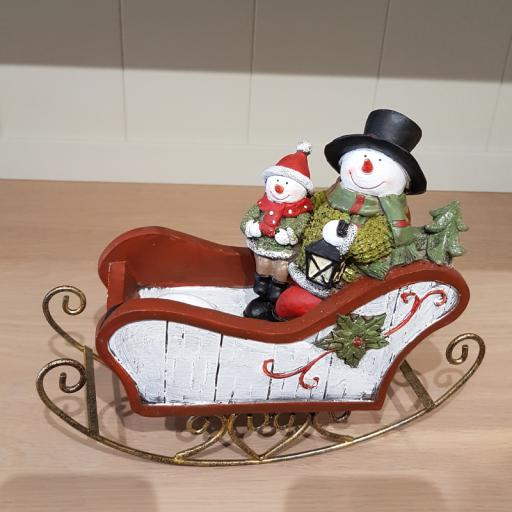 Snowman on Sleigh 13074 - Flame