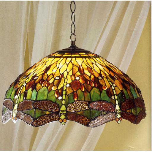 Dragonfly Green Pendant - Interiors 1900 Tiffany Light