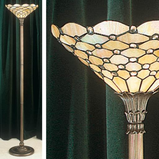 Pearl Up-lighter Floor Lamp - Interiors 1900 Tiffany Lighting