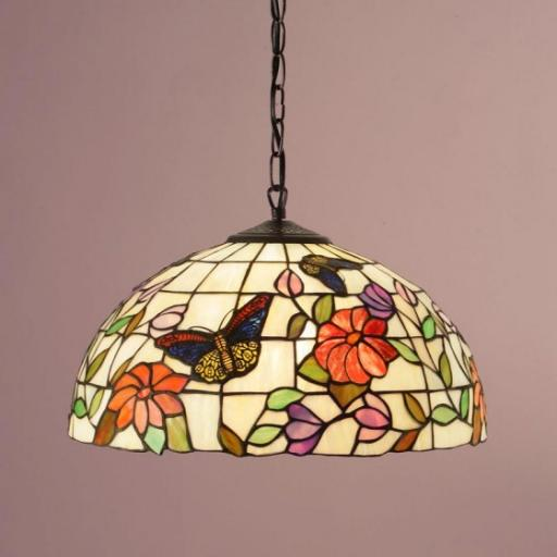 Butterfly Medium Pendant - Interiors 1900 Tiffany Light