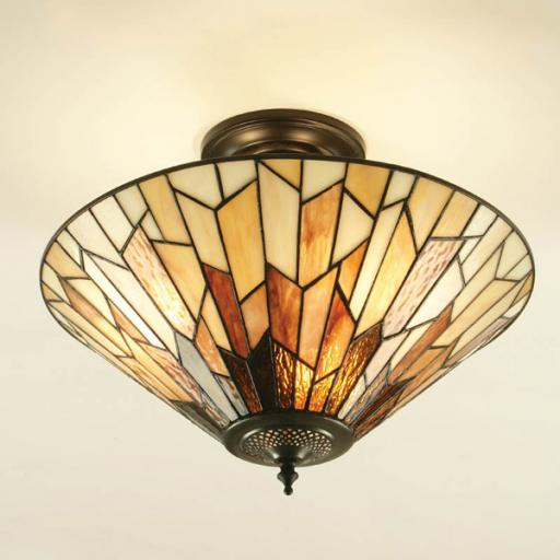 Overlap Semi-Flush Ceiling Light - Interiors 1900 Tiffany Light