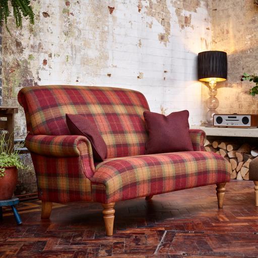 Arncliffe Compact 2 Seater Sofa ACF200 - Moon Fabrics - Wood Bros