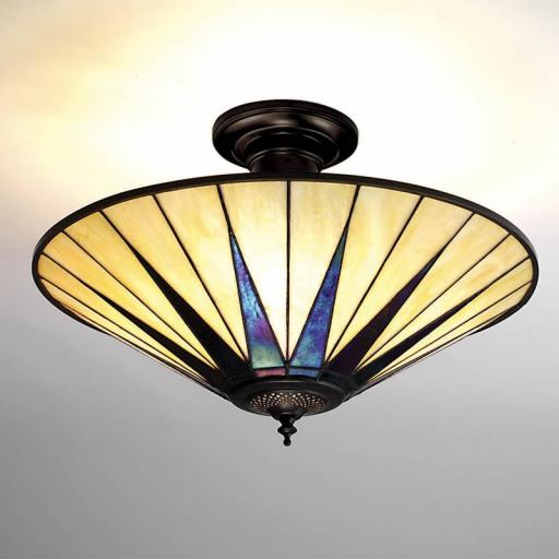Dark Star Semi-Flush Ceiling Light - Interiors 1900 Tiffany Light