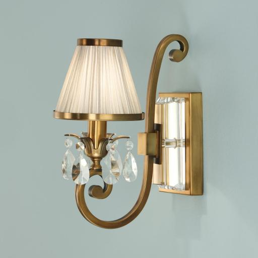Oksana Brass Single Wall Light with Shade - New Classics Interiors 1900