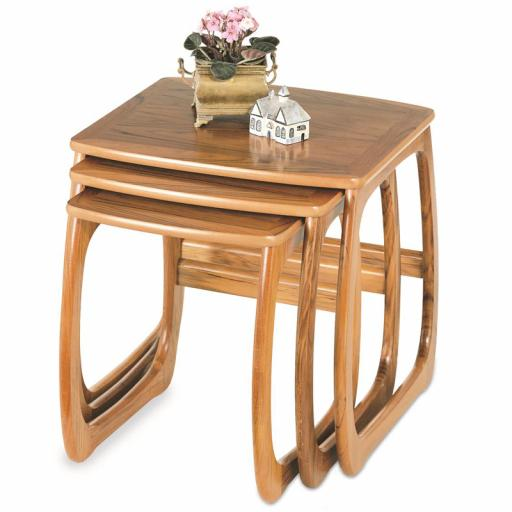 Nathan Furniture 5634 Burlington Nest of Tables - Classic & Shades Teak Range