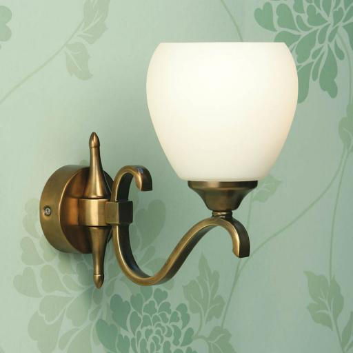 Columbia Brass Single Wall Light Opal Matt Art Glass Shades - New Classics Interiors 1900 Lighting