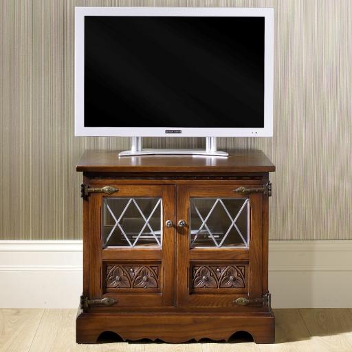 2440 TV Video Cabinet - Old Charm Furniture - Wood Bros
