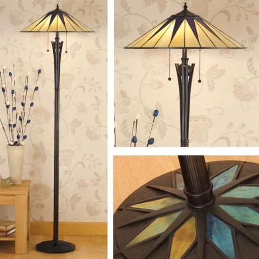 Dark Star Floor Lamp - Interiors 1900 Tiffany Light
