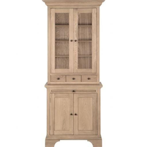 Henley 3ft Glazed Rack Dresser - Neptune Furniture