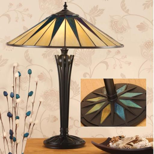 Dark Star Large Table Lamp - Interiors 1900 Tiffany Light