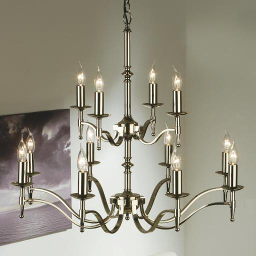Stanford Nickel 12 Light Chandelier - New Classics Interiors 1900 Lighting
