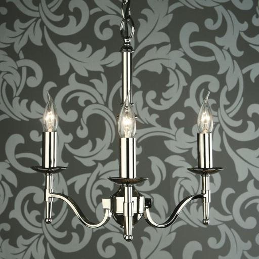 Stanford Nickel 3 Light Chandelier - New Classics Interiors 1900 Lighting
