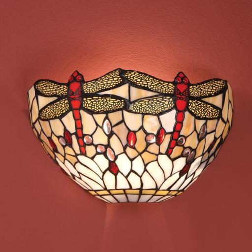 Dragonfly Beige Wall Light - Interiors 1900 Tiffany Light