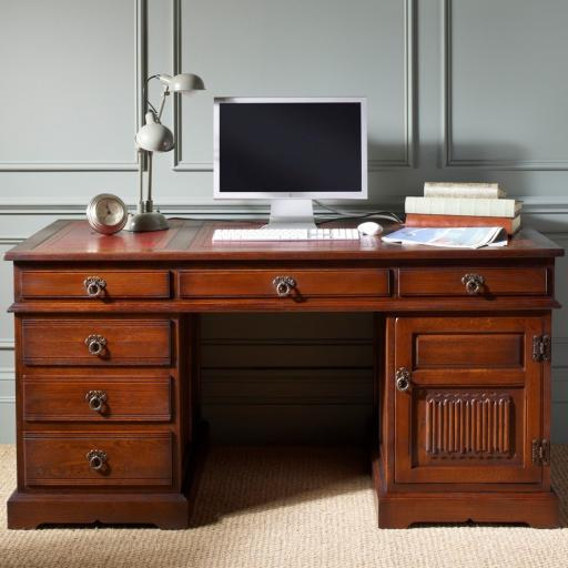 2798 Pedestal Desk Old Charm Furniture - Wood Bros