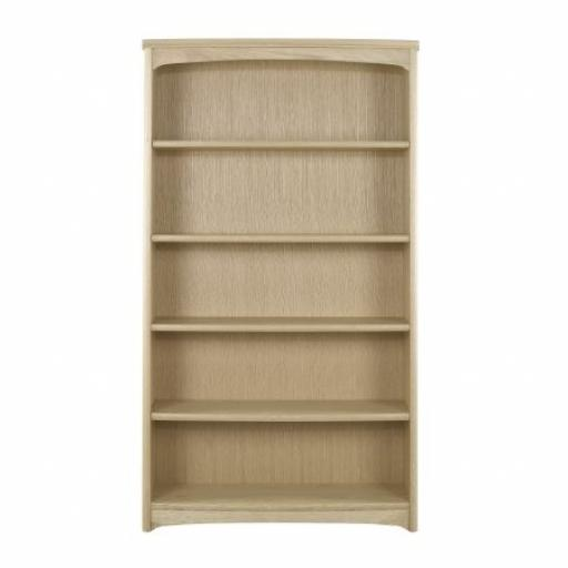 8991 Tall Double Bookcase - Nathan Furniture - Editions Oak