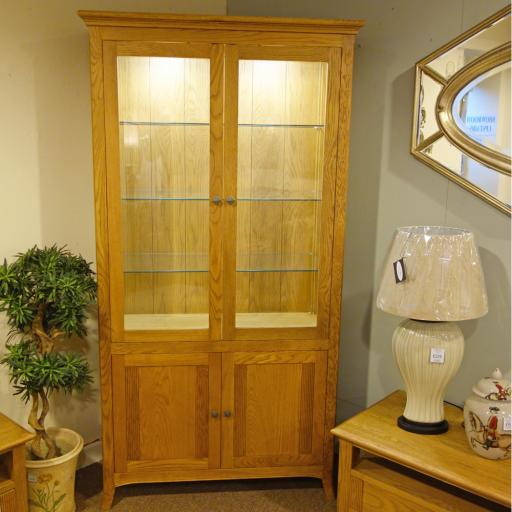 Toledo Display Cabinet WT4 - Winsor Furniture - Showroom Clearance