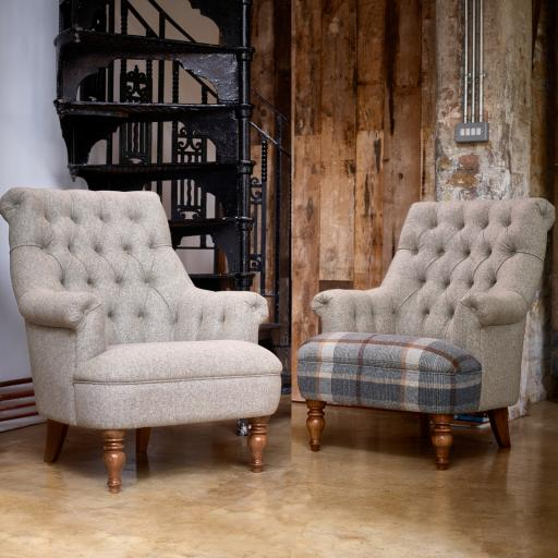 Pickering Armchair PKG140 - Moon Fabrics - Wood Bros