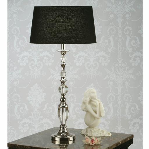 Polina Nickel Table Lamp Black - New Classics Interiors 1900 Lighting