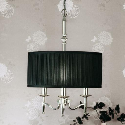 Stanford Nickel Georgetown Pendant Black Shade - New Classics Interiors 1900 Lighting