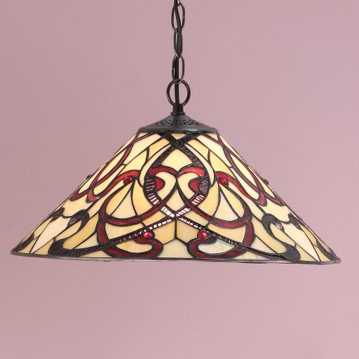 Ruban Medium Pendant - Interiors 1900 Tiffany Light