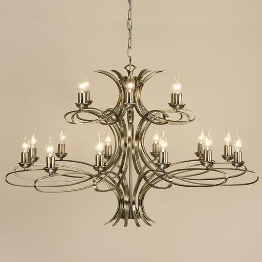 Penn 18 Light Chandelier Brass - New Classics Interiors 1900 Lighting