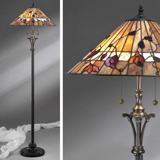 Bernwood Floor Lamp - Interiors 1900 Tiffany Light
