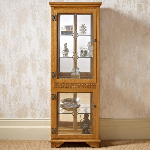 OC2376 Two Door Display Cabinet - Old Charm Furniture - Wood Bros