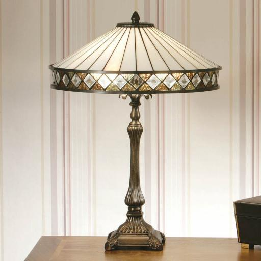 Fargo Table Lamp White - Interiors 1900 Tiffany Lighting
