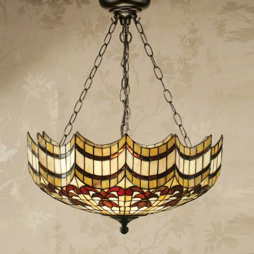 Vesta Large inverted pendent - Interiors 1900 Tiffany Lighting