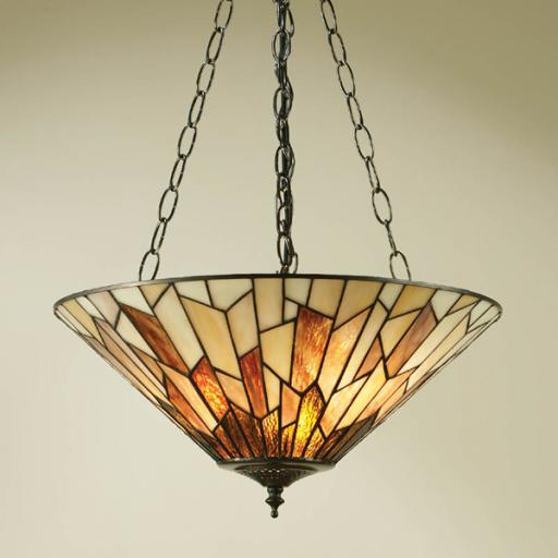 Interiors 1900 Overlap Pendant - Tiffany Light