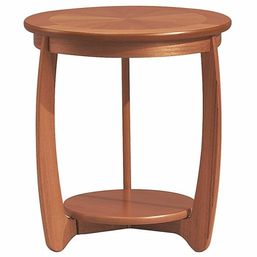 Nathan Furniture 5824 Sunburst Top Round Lamp Table- Nathan Shades Furniture