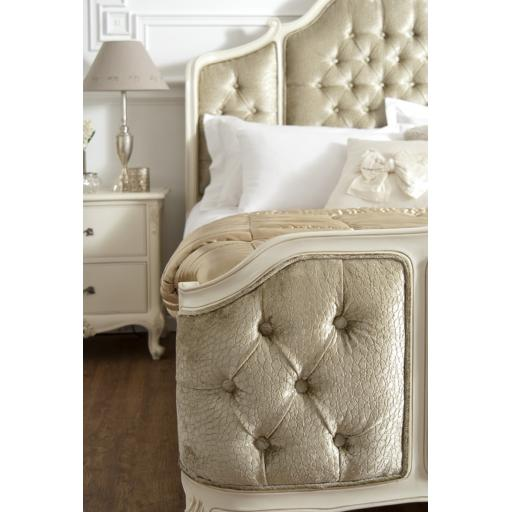 Rococo Soft White Bed Upholstered Panels - Winsor Furniture
