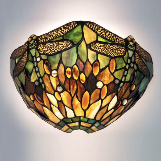 Dragonfly Green Wall Light - Interiors 1900 Tiffany Light