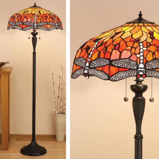 Dragonfly Floor Lamp - Interiors 1900 Tiffany Light