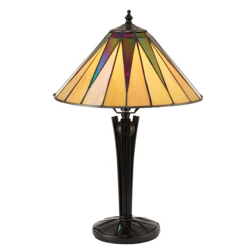 Small Dark Star Table Lamp - Interiors 1900 Tiffany Light