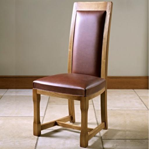 Chatsworth Dining Chair (Leather) CT2899 - Old Charm Furniture