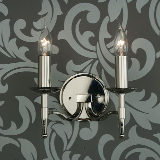 Stanford Nickel Double Wall Light - New Classics Interiors 1900 Lighting