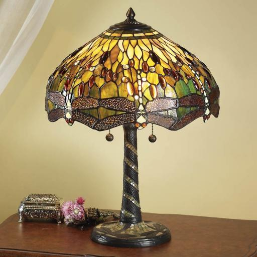 Dragonfly Green Large Table Lamp - Interiors 1900 Tiffany Light