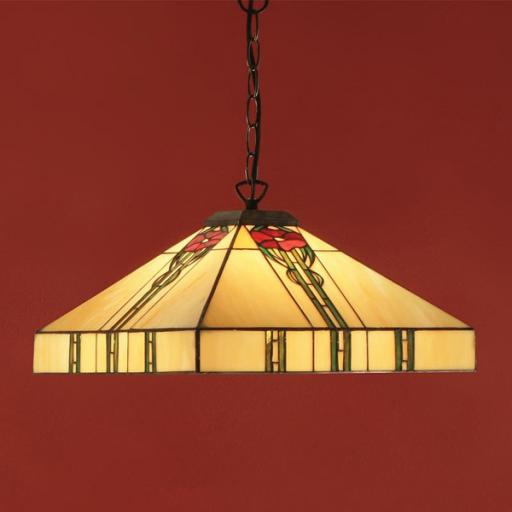 Santa Monica Pendant - Interiors 1900 Tiffany Light