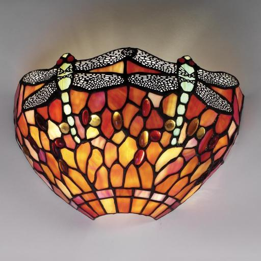 Dragonfly Flame Wall Light - Interiors 1900 Tiffany Light