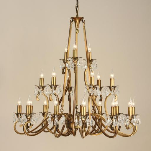 Oksana Brass 21 Light Chandelier - New Classics Interiors 1900
