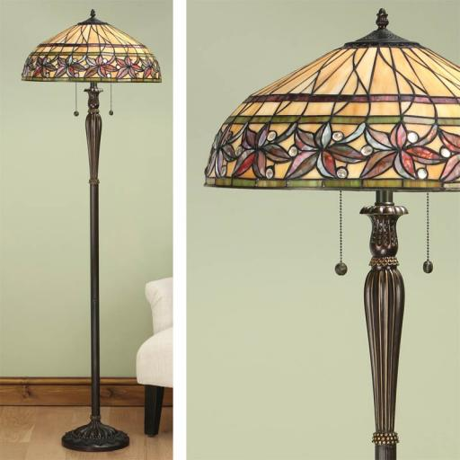 Ashtead Floor Lamp - Interiors 1900 Tiffany Light