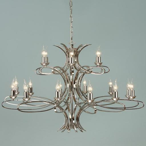 Penn 18 Light Chandelier Nickel - New Classics Interiors 1900 Lighting