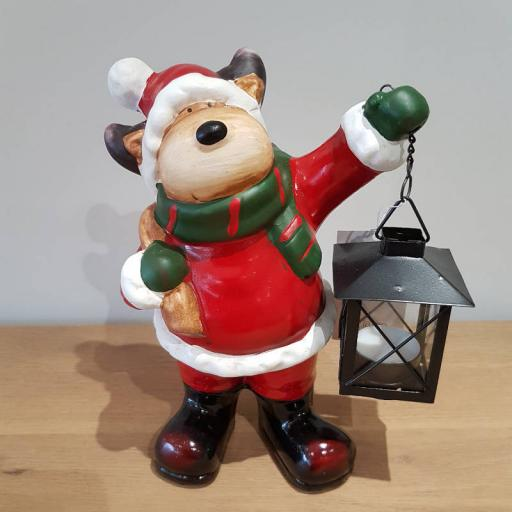 Reindeer Lantern Small 12983 - Flame