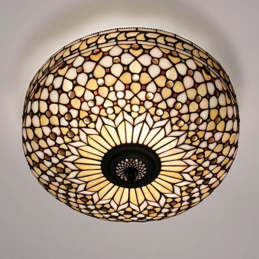 Mille Feux Flush Ceiling Light - Interiors 1900 Tiffany Lighting