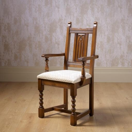 2287 Dining Armchair - Old Charm Furniture - Wood Bros