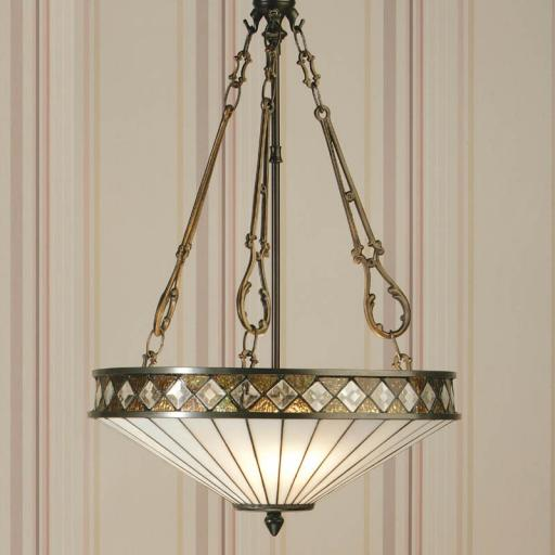 Fargo Inverted Pendant White - Interiors 1900 Tiffany Lighting