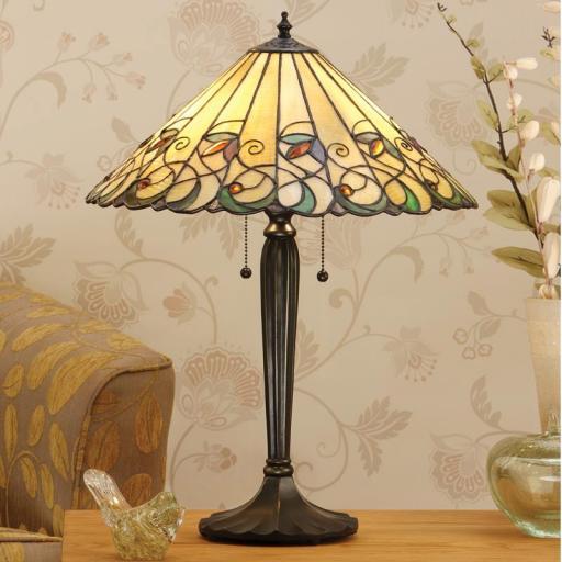 Jamelia Large Table Lamp - Interiors 1900 Tiffany Lighting